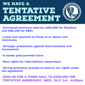 June 30: We reached a tentative agreement. Click for details